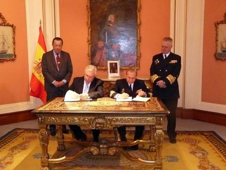 Firma del Convenio específico de colaboración entre el Ministerio de Defensa y la Universidad de Murcia para la creación de la Cátedra de Historia Naval.