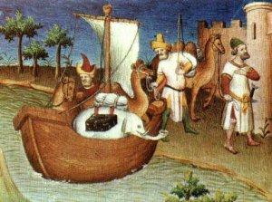 Una ilustración del Libro de las maravillas del mundo, de Marco Polo.